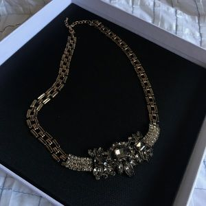 Jewelry - Artisan Vintage Victorian Crystal cluster necklace